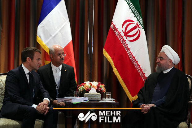 VIDEO: Rouhani's meeting with Macron in NY