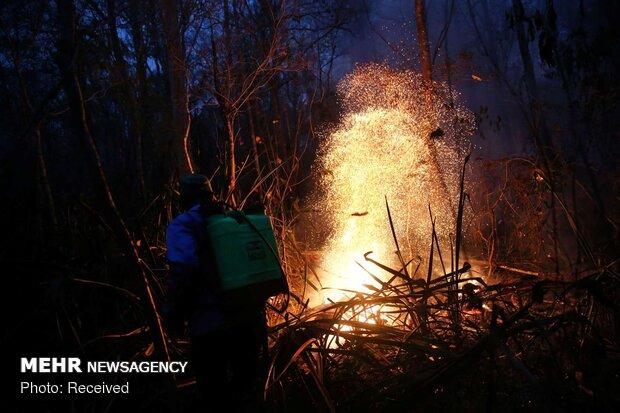 آتش سوزی های گسترده در بولیوی