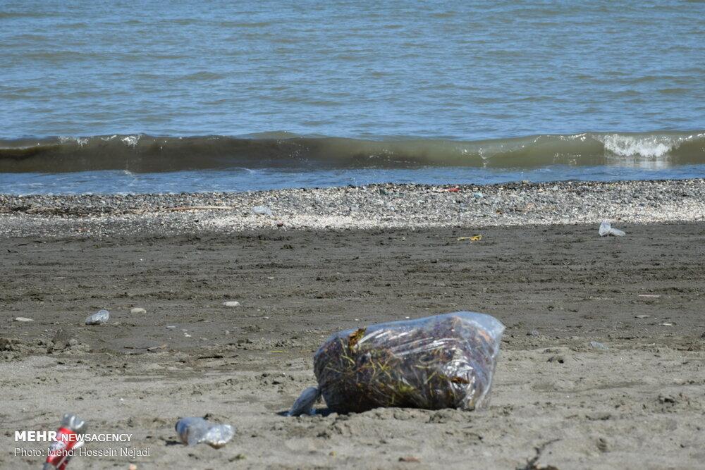 زباله هدیه مسافران تابستانی به سواحل شهرستان مرزی آستارا