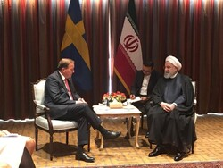 Swedish PM voices support for INSTEX in Rouhani meeting