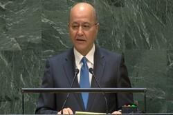 الرئيس العراقي يدعو إلى تكوين منظومة تعاون إقليمي