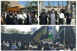 عزاداری پیاده علما ومردم ورامین به مناسبت شهادت امام حسن مجتبی(ع)