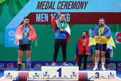 Iran's Reza Dehdar wins gold, bronze medals at IWF World C'ships