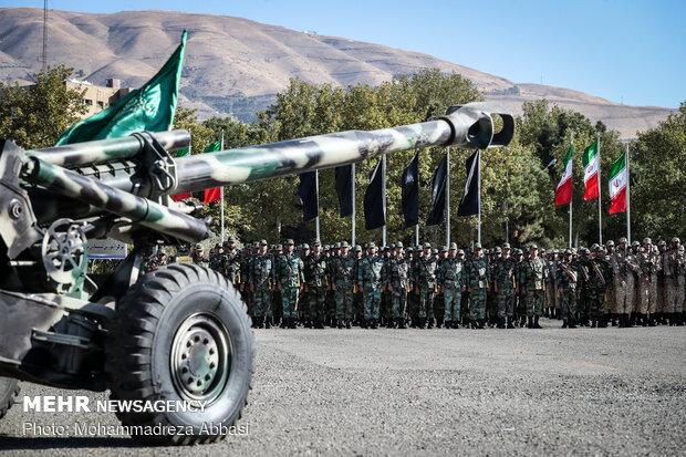 صبحگاه مشترک یگانهای نمونه ارتش