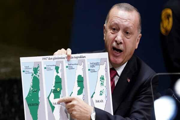 استقبال شدید هنیه از نمایش نقشه تاریخی فلسطین از سوی اردوغان