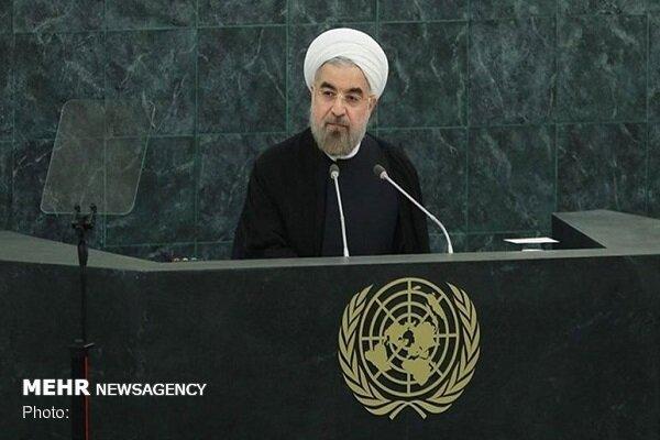 Rouhani meets with UN secretary General, Irish president
