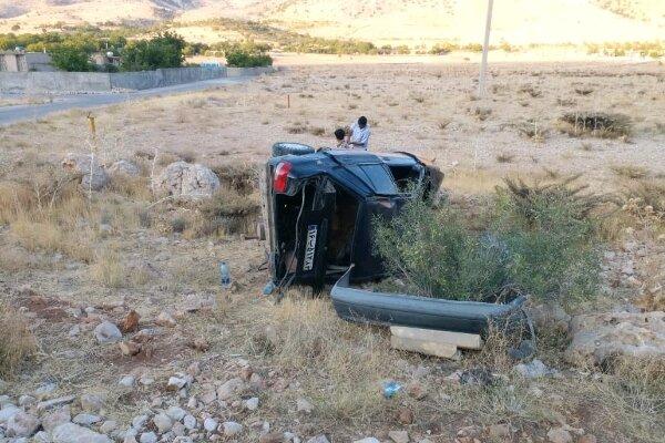 برخورد پراید وتیبا در محور یاسوج به اصفهان یک کشته و سه زخمی داشت