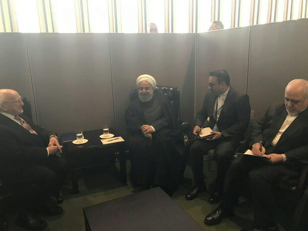 صدر روحانی کی آئیر لینڈ کے صدر سے ملاقات