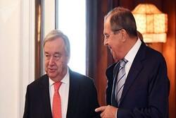 رایزنی لاوروف و گوترش درباره کمیته قانون اساسی سوریه