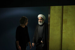 روحاني في قاعة الجمعية العامة للأمم المتحدة / صور
