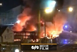 VIDEO: Massive fire in French chemical factory
