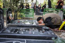 مراسم غبارروبی گلزار شهدای تهران در هفته دفاع مقدس
