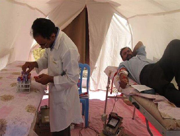 تامین خون ۳ بیمارستان صحرایی در مسیر زائران اربعین
