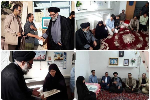 دیدار رئیس شورای هماهنگی تبلیغات اسلامی تهران با ۳ خانواده شهید