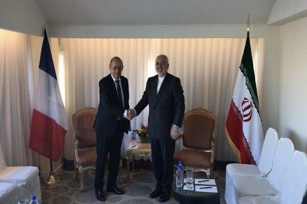 وزیر امور خارجه فرانسه مجددا با ظریف دیدار کرد