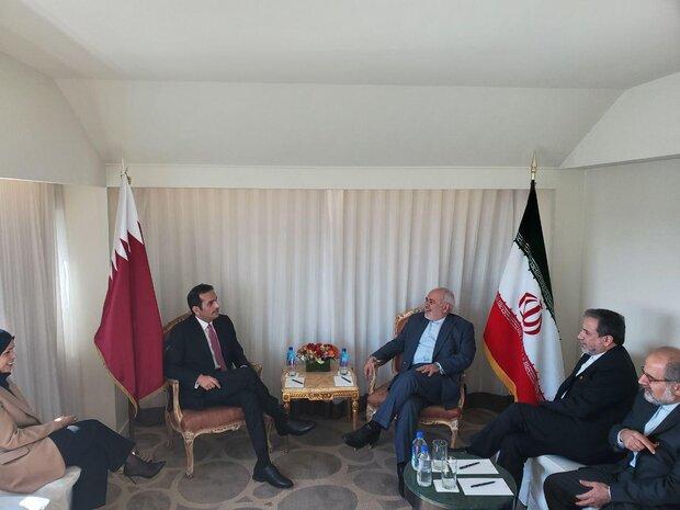 وزرای امور خارجه ایران و قطر دیدار و گفتگو کردند