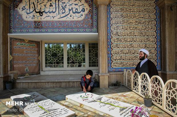 ستاره هایی که پروای نام ندارند- گلزار شهدای گمنام بوستان لاله