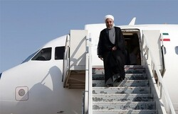 صدر حسن روحانی تہران پہنچ گئے