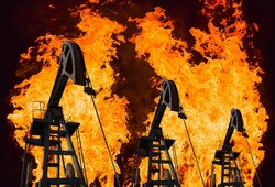 Burning oil fields (artist's rendering / Shutterstock)