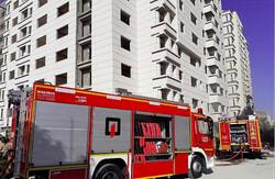 آتش سوزی ساختمان در حال احداث در غرب پایتخت