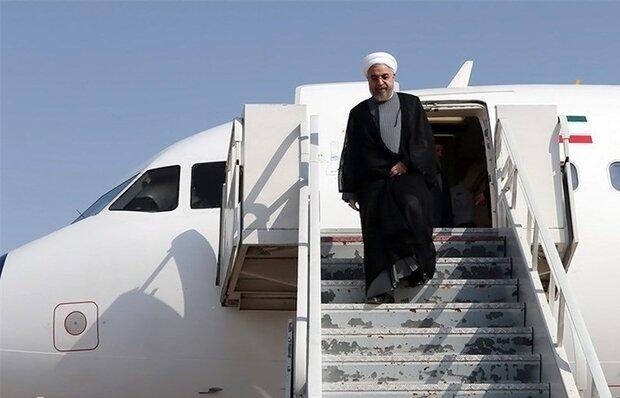 Cumhurbaşkanı Ruhani Azerbaycan'dan Tahran'a döndü