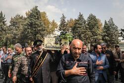 تہران کی بین الاقوامی نمائش میں گمنام شہداء کی تشییع جنازہ