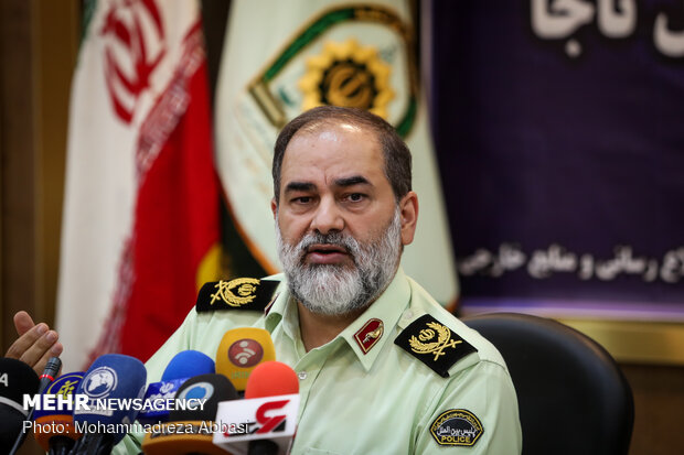 Head of Iranian Police's international department press conference