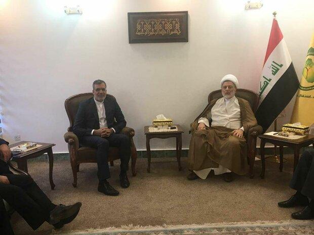 جابري انصاري يلتقي برئيس المجلس الاعلى الاسلامي في العراق