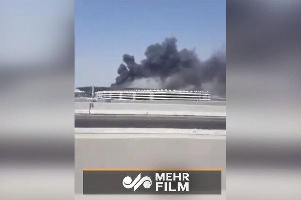 VIDEO: Fire breaks out in train station in Jeddah