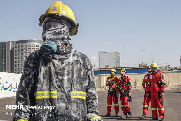 Firefighters commemorate National Firefighters' Day in Tabriz