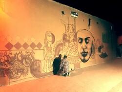 نخستین«کوچه گالری» ایران در شیراز اجرا شد/ دیوارها داستان شدند
