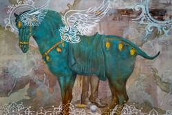 تماشای نقاشیهای جدید ماهیار چرمچی در گالری ثالث