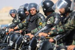 قم میں ایرانی پولیس کے خصوصی دستوں کی مشقیں