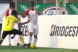 تیم ملی فوتبال پنج نفره مقابل مالزی پیروز شد