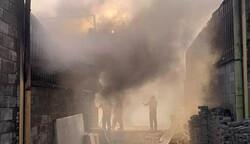 آتش سوزی سه سوله بزرگ مصنوعات چوبی در چهاردانگه