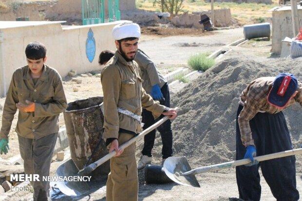 ساخت مسجد روستای «برم» الیگودرز توسط گروههای جهادی طلبه