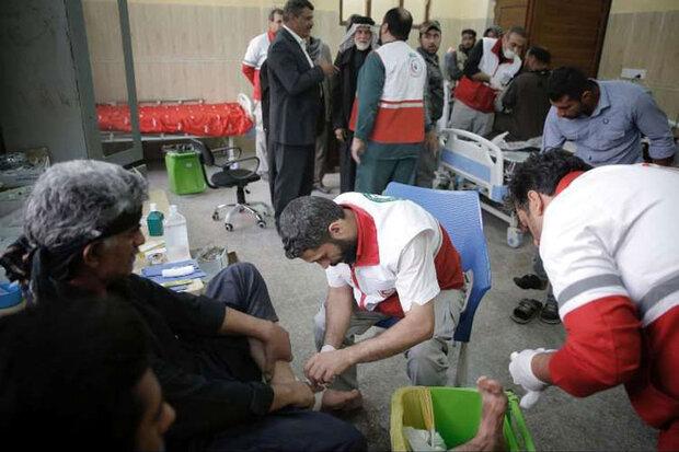 ۱۳ پایگاه امداد و نجات هلال احمر همدان در ایام اربعین فعال است