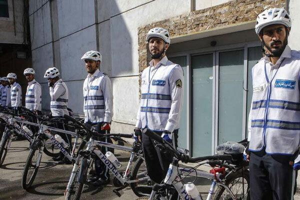 پلیس دوچرخه سوار در جاده سلامت ناژوان آغاز به کار کرد