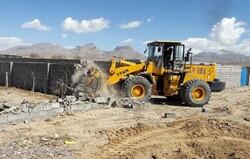 ۲۴۰۰ مترمربع از اراضی ملی شهرستان سامان رفع تصرف شد