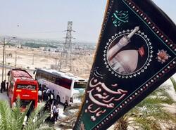بدرقه کاروان دانشآموزی اربعین حسینی در مشهد