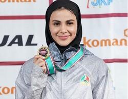 سارا بهمنیار از کسب مدال برنز بازماند