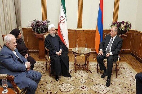 صدر حسن روحانی کی آرمینیا کے صدر سےملاقات