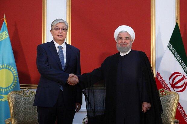 ایرانی صدر کی قزاقستان کے صدر سے ملاقات