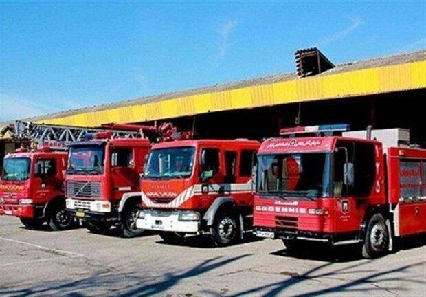 استقرار ۴ دستگاه خودرو آتشنشانی در مرز خسروی