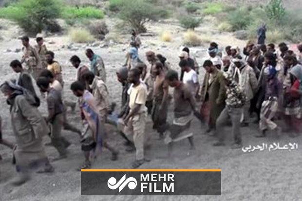 """یمن میں """" نصر من اللہ """" آپریشن میں اسیر سعودی فوجیوں کی تصاویر"""