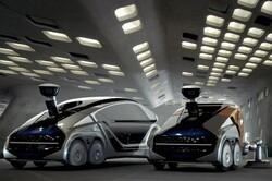 خودروی رباتیک خرید می کند و به سوالات هم پاسخ می دهد