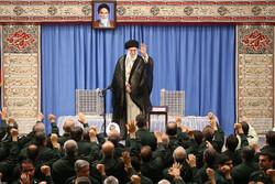 رہبر معظم انقلاب اسلامی سے سپاہ کے اعلی کمانڈروں کی ملاقات