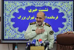 نشست خبری سردار رحیمی فرمانده نیروی انتظامی تهران بزرگ