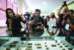 Recently returned Achaemenid-era clay tablets on display