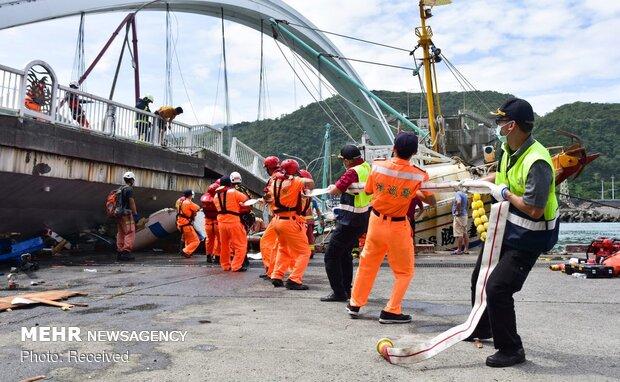 سقوط پل در تایوان